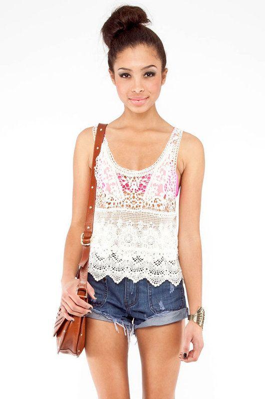 Crochet Layering Tank Top Clothes Pinterest