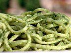 Basil Pesto - Modified: made with sunflower seeds and grated parmesan ...