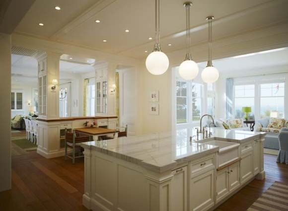 Lake house with marble counters kitchen ideas pinterest for Lake house kitchen designs