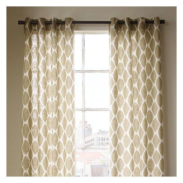 Ikat ogee linen window panel 69 liked on polyvore