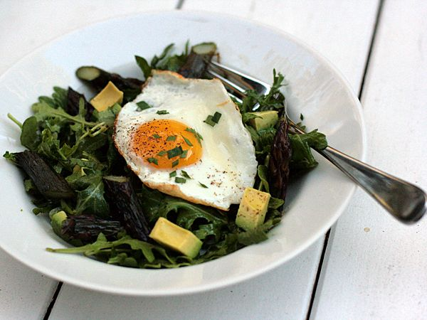 arugula avocado asparagus Salad with egg | Breakfast for Dinner (and ...