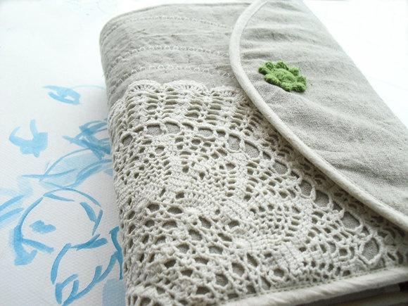 Crochet Journal : Bible cover, Journal Cover ,crochet,linen,cotton, custom made