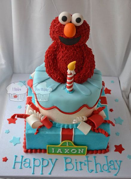 Elmo Birthday Cake Decorations : Elmo Birthday Cake Party Ideas Pinterest