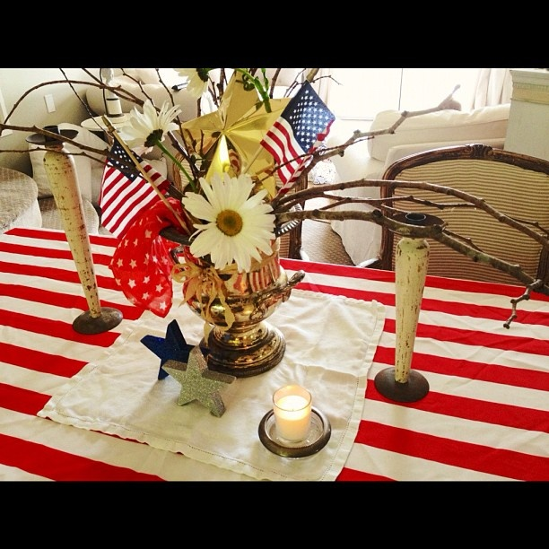 Easy 4th Of July Decorations For Table Holidays Pinterest
