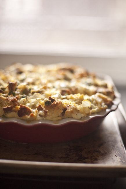 Savory Bread Pudding | Breadin5 | Food to try - Breakfast Dishes | Pi ...