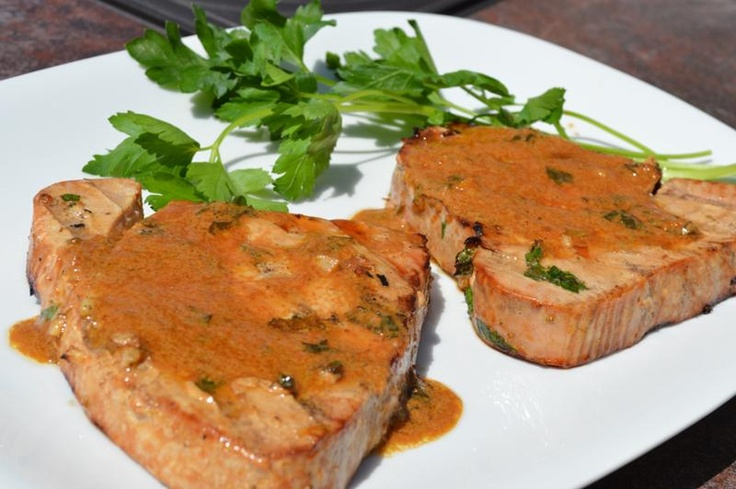 mixture of citrus, soy and garlic. This is my favorite grilled tuna ...