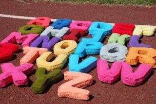 Crochet Alphabet Typography Pinterest