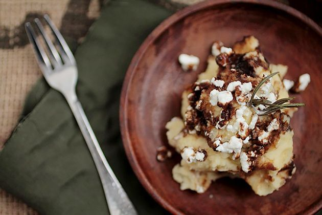 Rosemary Browned Butter Mashed Potatoes with Goat Cheese | Recipe