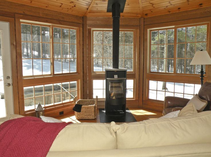 Pinterest for Wood burning stove for screened porch