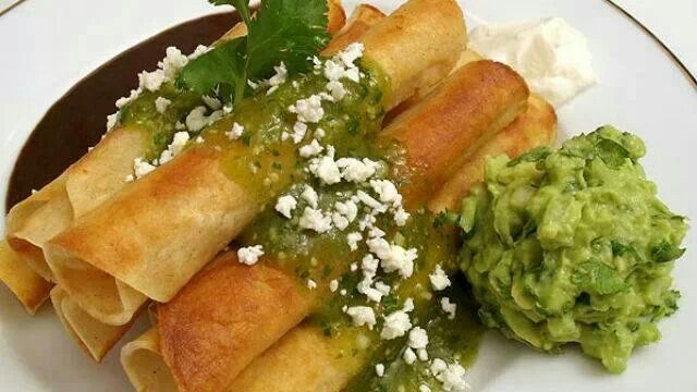 Tacos dorados mexico lindo y querido pinterest - Tacos mexicanos de pollo ...