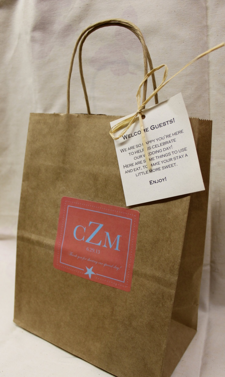 Wedding Favor Bags For Out Of Town Guests : Out of Town Guest Bag // Wedding Welcome Box // Wedding Welcome Bag ...