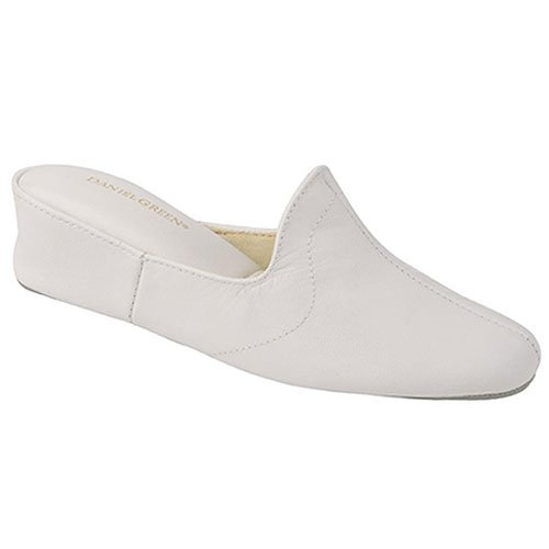 Daniel green juniors womens white mule bedroom slippers 5m 14m for Daniel green bedroom slippers