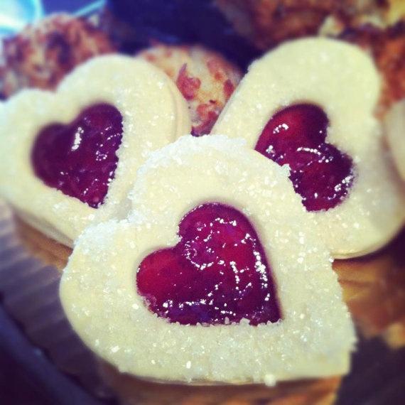 Valentine Linzer Heart Cookies by Tart Bakery