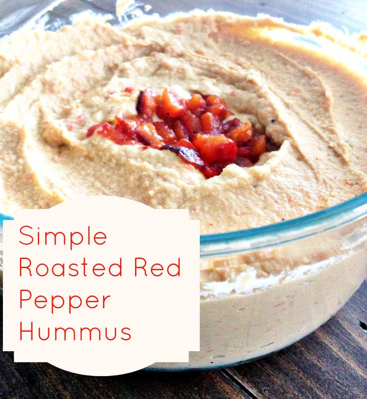 Simple Roasted Red Pepper Hummus | Defining My Happy- The Blog | Pint ...