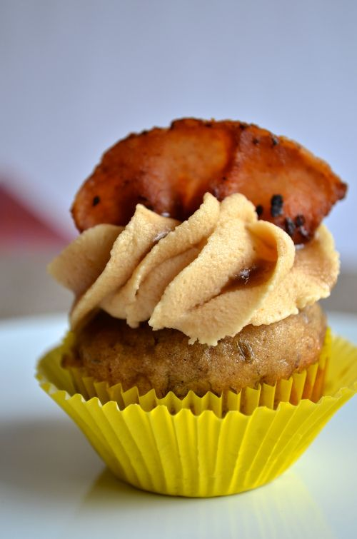 Bourbon, bacon, brown butter, banana cupcakes with peanut butter ...