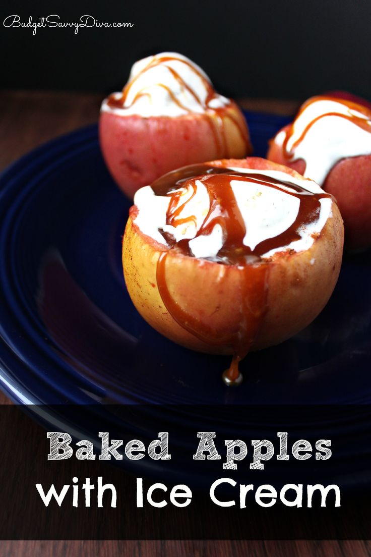 Baked Apples with Ice Cream Recipe
