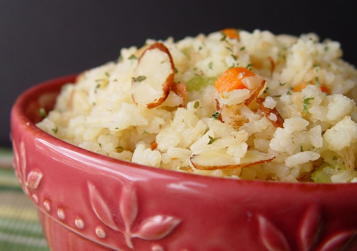 Rice Pilaf with Almonds | Food Food Food | Pinterest