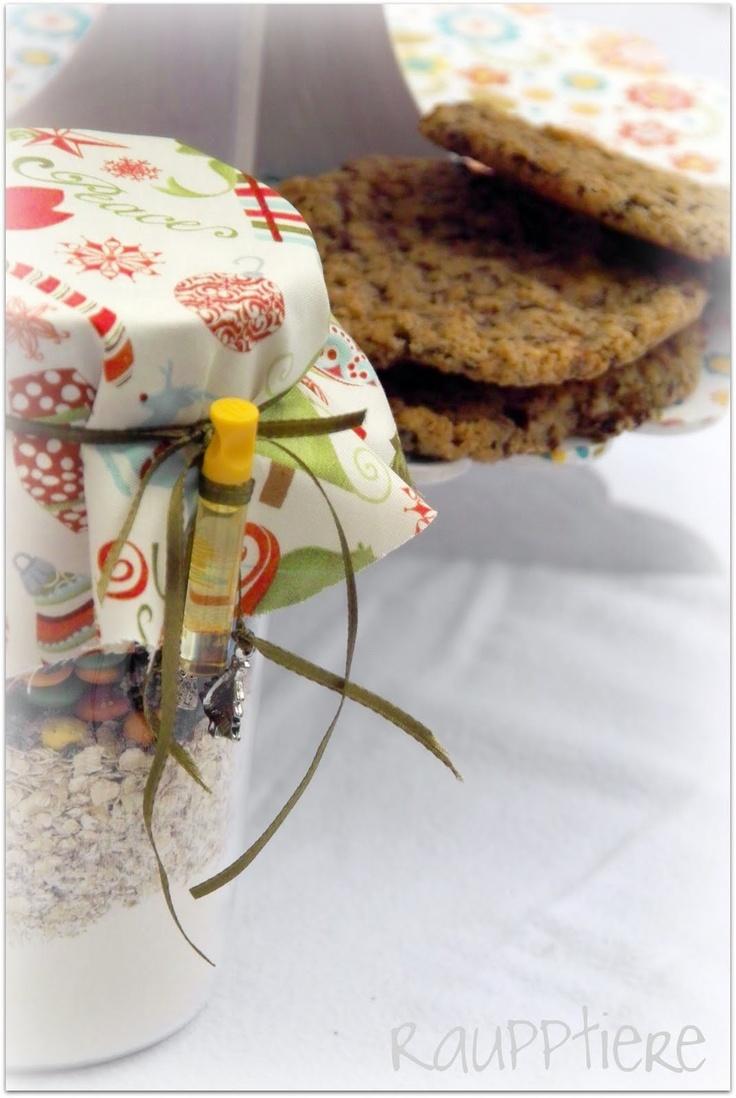 cookies im glas rezept gifts in a jar pinterest. Black Bedroom Furniture Sets. Home Design Ideas