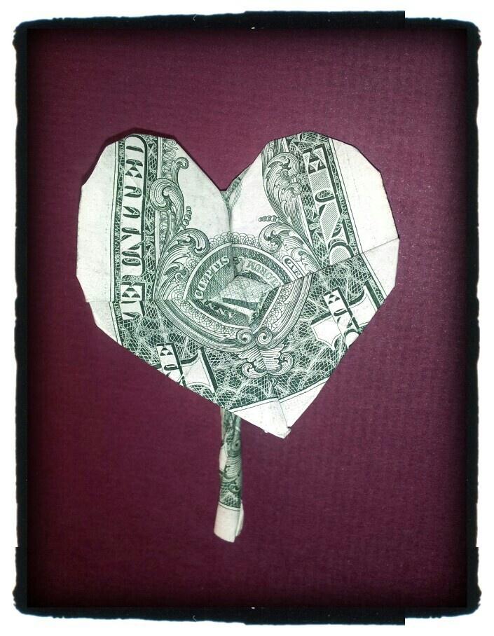 Anthurium Flower | Money Origami | Pinterest