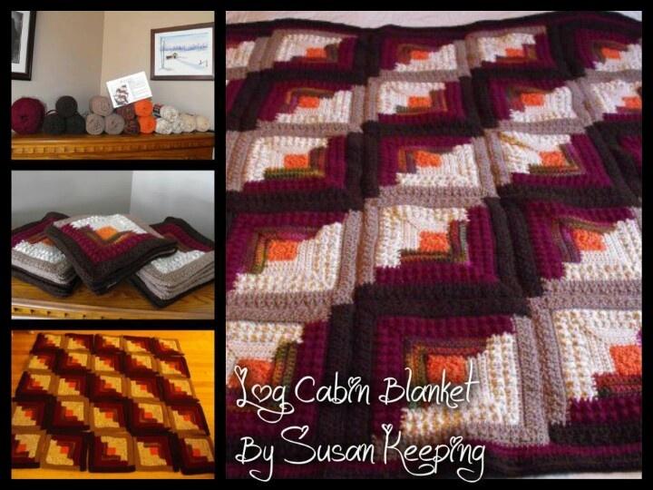 Log Cabin | Red Heart Crochet Patterns | Pinterest