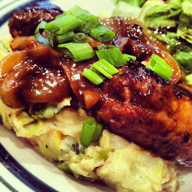 Bangers and Colcannon with Guinness Gravy- Irish Sausages and Mashed ...