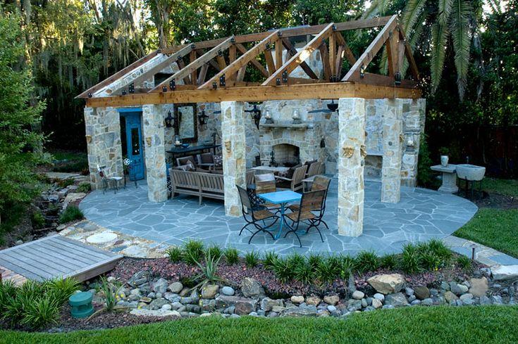 Stone Patio Outdoor spaces I LOVE