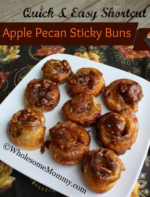 Quick and Easy {Shortcut} Apple Pecan Sticky Buns | From ...