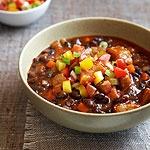 Slow Cooker Pork and Black Bean Chili