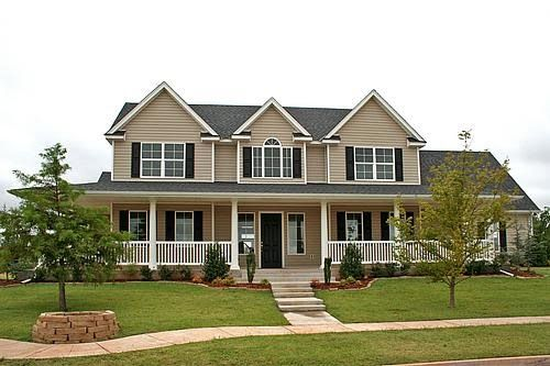 Love The Tan With Black Shutters Beautiful Homes Pinterest