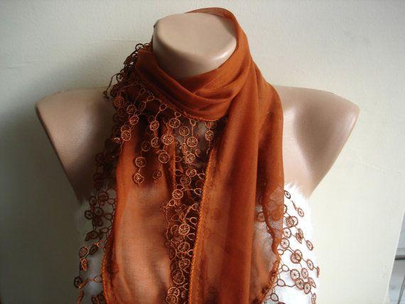 Cotton Scarf Fashion Scarves For Women Cinnamon by cocoshwoman, $22.00