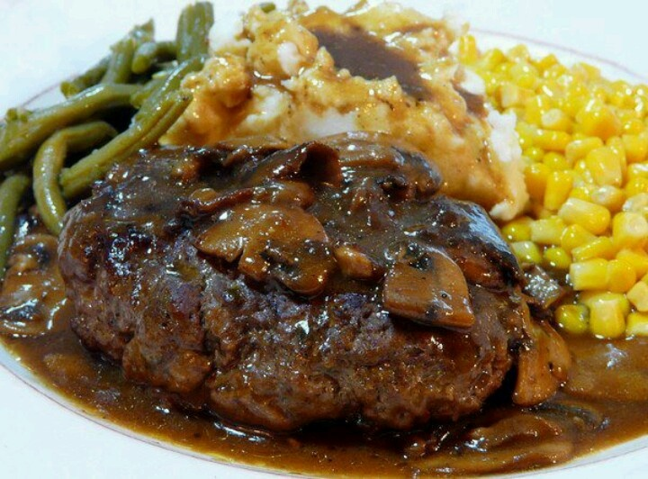 Skinny Salisbury Steak With Mushroom Gravy Recipe — Dishmaps