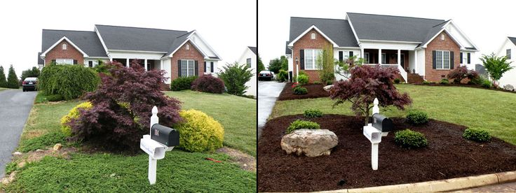 Mailbox landscaping google search outdoor decorating ideas pint - Garden design before and after ...