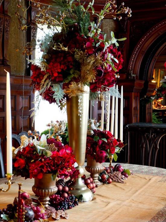 red gold christmas centerpiece wedding tables pinterest. Black Bedroom Furniture Sets. Home Design Ideas