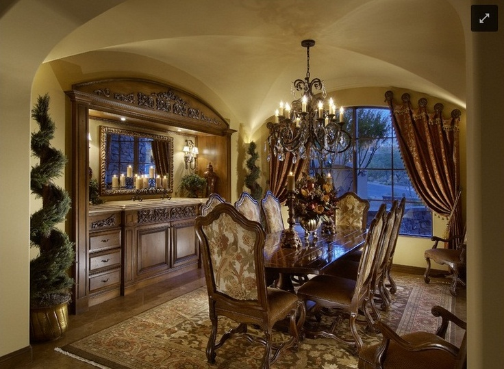 Old World Tuscan Dining Rooms And
