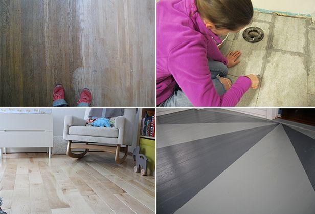 DIY Flooring Project Ideas >> http://blog.diynetwork.com/maderemade/2014/04/24/diy-flooring-inspiration-tile-hardwoods-laminate/?soc=pinterest