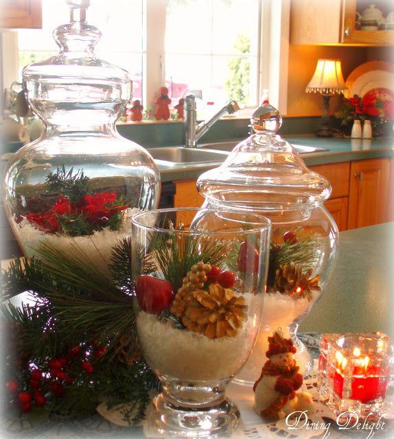 Decorating Ideas > Christmas Jar Decor By Dining Delight  Christmas Decor  ~ 195421_Decorating Christmas Jars Ideas