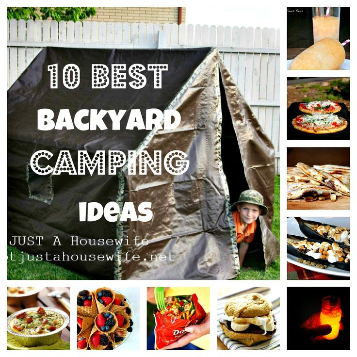 Backyard Camping Tips :  GREAT backyard campout ideas heathersfrenchpresscom #summer #camping