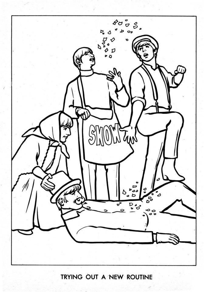 Beatles free coloring pages for Beatles coloring book pages