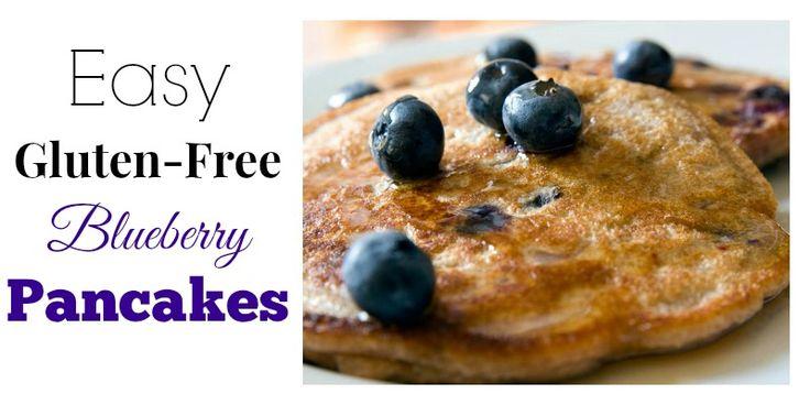 Easy Gluten-Free Blueberry Pancakes | Paleo/Primal | Pinterest
