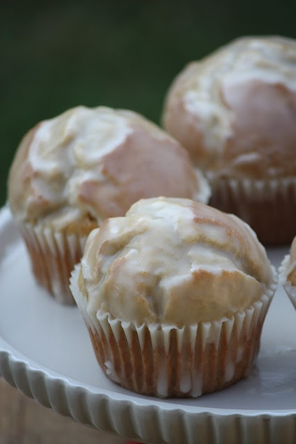 glazed doughnut muffins? Combining two food groups-doughnuts and muffins!