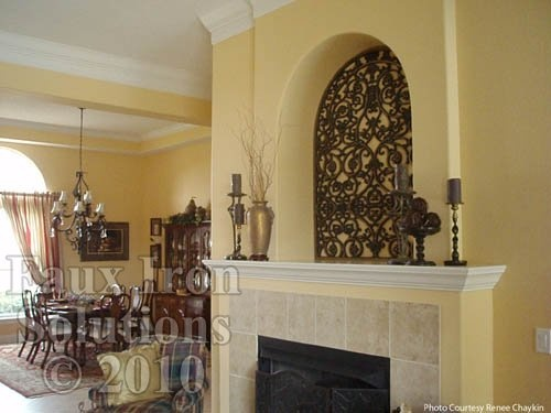 Faux wrought iron wall niche decor diy pinterest for How to decorate an alcove in a wall