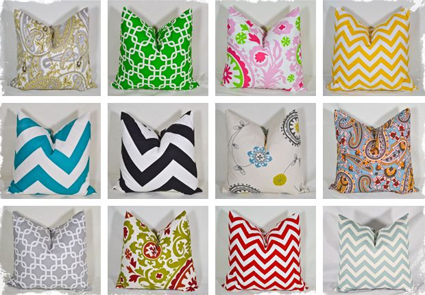 """$12 18"""" x 18"""" Pillow Covers - 12 Colors To Choose From at VeryJane.com"""