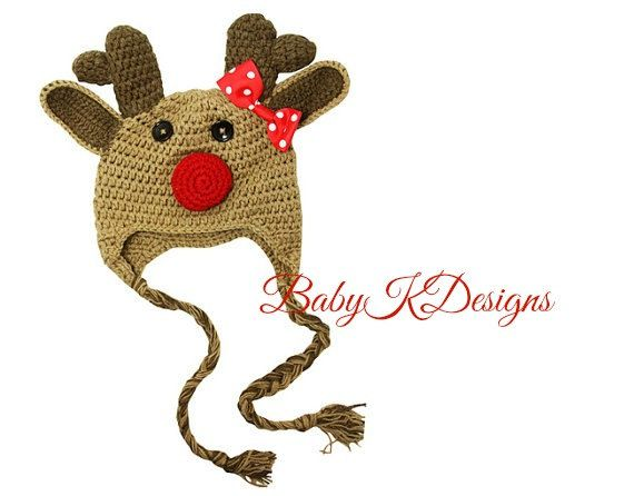 SALE Christmas Rudolph Clarice The Red Nose by Baby K Designs 2 Sizes ...