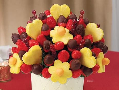 valentine's day fruit arrangements