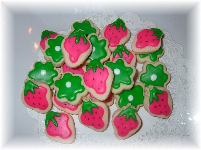 Strawberry Shortcake Cookies | Cookies | Pinterest
