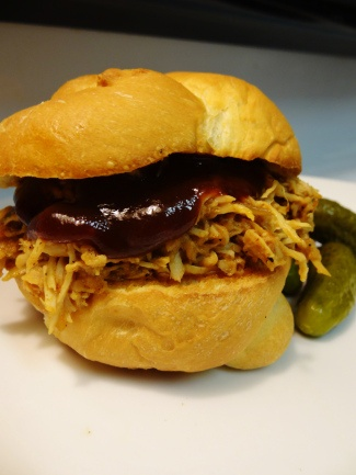 Pulled BBQ Turkey Sandwich - Slow Cooker Recipe // strawberrymint.org