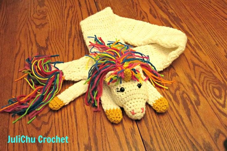Crochet Unicorn Scarf : Unicorn scarf by julichu crochet Crochet Ideas Pinterest