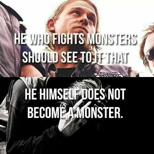 he who fights monsters He who fights with monsters should look to it that he himself does not become a monster and when you gaze long into an abyss, the abyss gazes also in you 8:54 pm - 16 apr 2018 1 retweet 1 like 0 replies 1 retweet 1 like reply retweet 1 retweeted 1 like 1 liked.