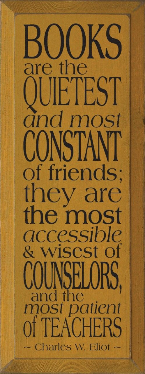 Books are the quietest and most constant of friends...