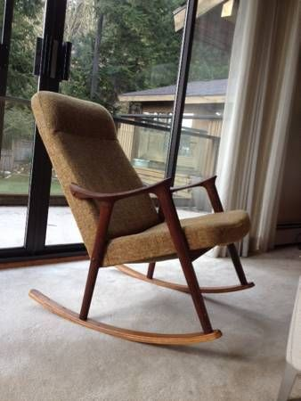 Mid century modern danish retro rocking rocker chair - Vancouver mid century modern furniture ...